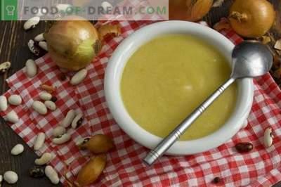 Soupe à la crème de haricots en conserve