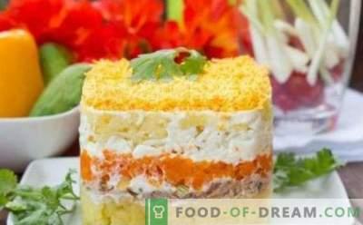 Mimosa salātu konservi recepti soli pa solim ar fotogrāfijām