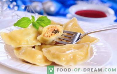 Homemade dumplings - a dish for all times. For fans of home-made dumplings: eight simple recipes with cherries, mushrooms, cottage cheese, meat