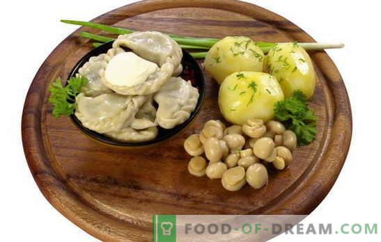 Pelmeņi ar kartupeļiem un sēnēm - un nav gaļas! Izvēle no vilinošākajām galotņu receptēm ar kartupeļiem un sēnēm