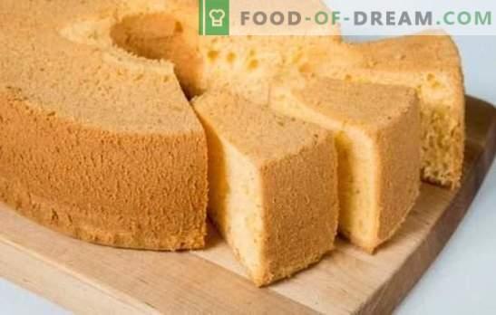 Šifona sūkļa kūka - pati jutīgums! Receptes dažādiem šifona cepumiem: klasika, šokolāde, ar magoņu sēklām, riekstiem