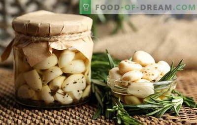 Alho em conserva - apenas sabor e beneficio! Como conservar o alho em casa com cabeças, dentes e flechas
