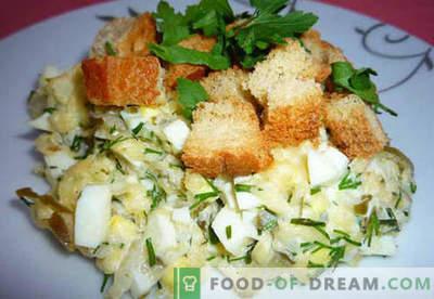 Salāti ar marinētiem gurķiem - pārbaudītas receptes. Kā pareizi un garšīgi sagatavot salātus ar marinētiem gurķiem.