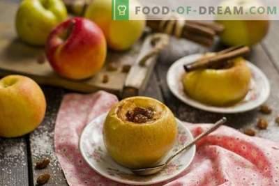 Ceptie āboli ar medu un žāvētiem augļiem