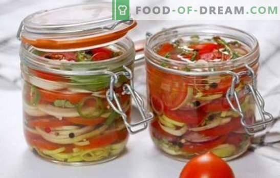 Garšīgi tomātu salāti ziemai: vitamīni burkās visai ģimenei. Labākās receptes garšīgiem salātiem tomātu ziemā