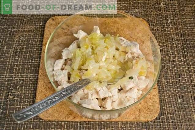 Insalata di pollo con kiwi e noci