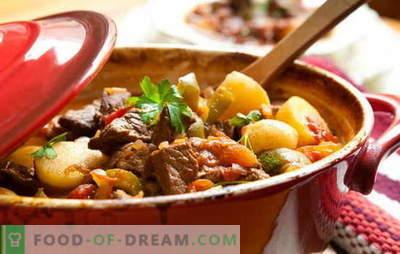 Cepta gaļas recepte un kartupeļi īstiem gardēžiem! Cepta gaļa un kartupeļi: podos, pannā, lēnā plītī