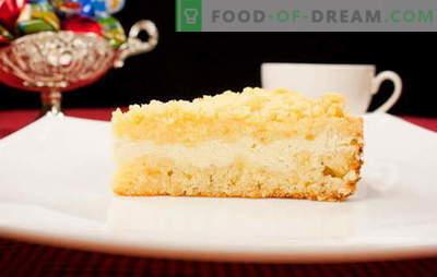 Nepārspējama karaļa siera kūka: klasiska vaniļa, šokolāde, ar āboliem un bumbieriem. Karaliskās biezpienmaizes receptes