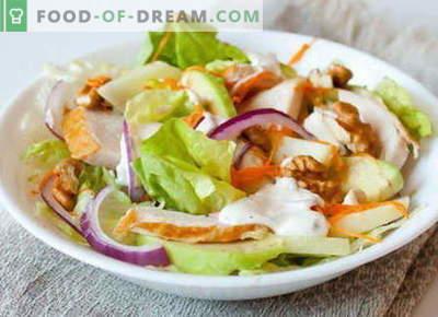 Suitsukana salat - parimad retseptid. Kuidas õigesti ja maitsev valmistada suitsukana salatit.