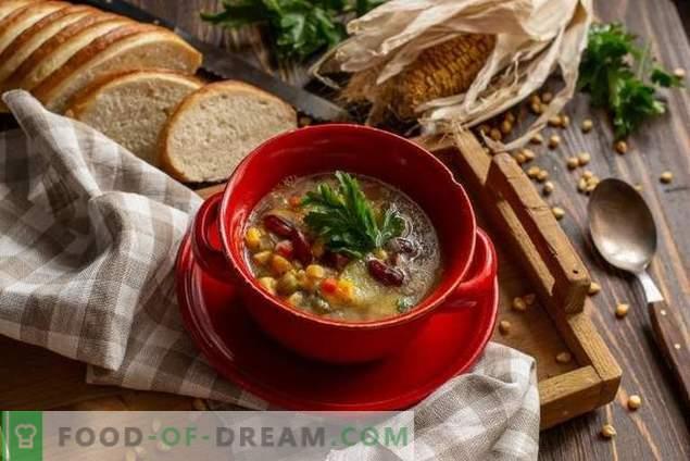 Mexikanische Suppe mit Mais und Bohnen - einfach und günstig
