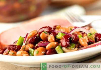 Салата с червен боб - Доказани рецепти. Как да се готви салата от червен боб.