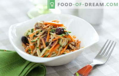 Carrot salad with walnuts is a bright and healthy treat. Top 10 best recipes for salads with carrots and walnuts