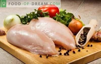 Kāda vārīta vistas fileja ir ātra un garšīga? Vistas filejas pagatavošana garšīgi rullīšus, cepešus cepeškrāsnī, ātri un viegli salātus