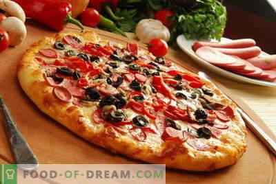 Pica mīkla - labākās receptes. Kā pagatavot mīklu picai.