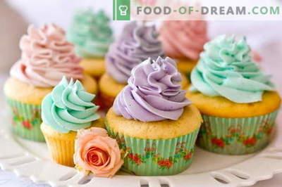 Cupcakes - kā tos gatavot mājās. 7 labākās receptes mājās gatavotiem cupcakes.