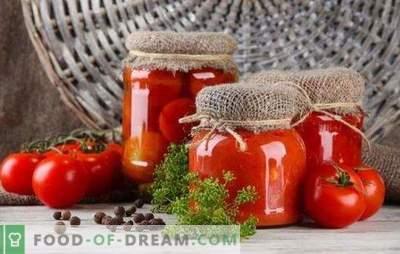Gemarineerde tomaten voor de winter - de smaak en geur van de zomer. Belangrijke tips en originele recepten: hoe tomaten in de winter te maken