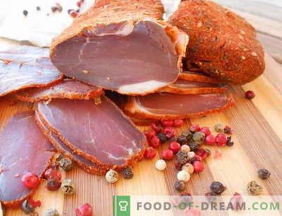 Gedroogd vlees - de beste recepten. Hoe goed en kokkerig koken.
