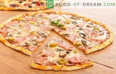 Pâte à pizza fine - le secret des Italiens! 7 meilleures recettes pour une pâte à pizza fine: sans levure et sans levure