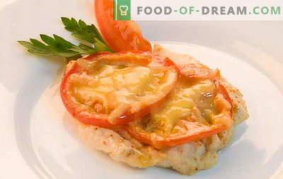 Vistas filejas receptes ar tomātiem un sieru krāsnī. Vistas filejas gatavošana ar tomātiem un sieru krāsnī - ātri, viegli!