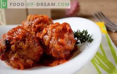 Gaļas bumbiņas ar rīsu mērci: bērni mīl, pieaugušie mīl! Autora soli pa solim foto recepte gaļas bumbiņām ar rīsiem lēnā plītī