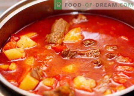 Cūkgaļas gulašs - labākās receptes. Kā pareizi un garšīgi gatavot cūkgaļas gulašu.
