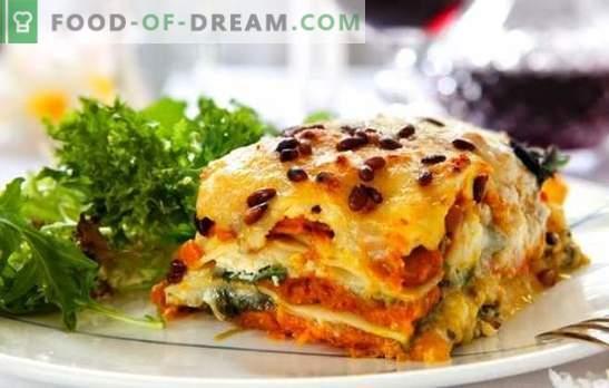 Lasagna ar sieru - vēl viens gabals, Senora! Receptes dažādām lazanām ar sieru un šķiņķi, sēnēm, tomātiem, vistu