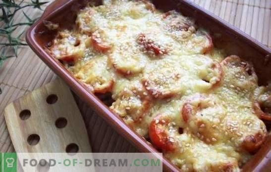 Delikāts ēdiens - cukini ar sieru krāsnī. Cukini ar sieru krāsnī, ar tomātiem, sēnēm vai pipariem!