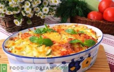 Pannā ar sieru un malto gaļu - vakariņas pusstundu. Receptes kastrolis ar sieru un malto gaļu: kartupeļi, dārzeņi, makaroni