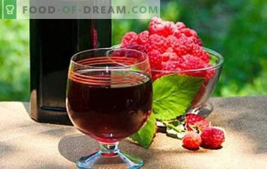 Pašdarināts aveņu vīns - smags aromāts! Aizpildiet pieliekamais ar aveņu mājas vīniem: labākās receptes