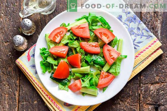 Diētiskie salāti ar vistas krūtiņu bez majonēzes