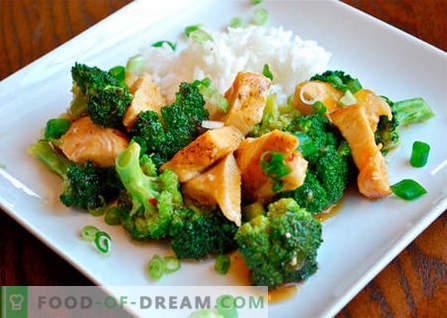 Пилешко со брокула - најдобри рецепти. Како да правилно и вкусно готви пилешко со брокула.