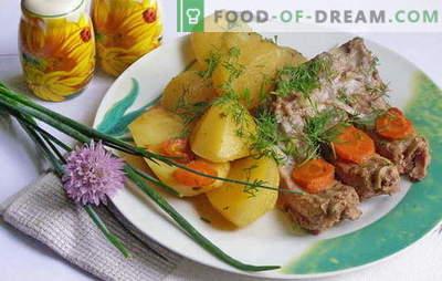 Rib-grauzdēti kartupeļi - neaizmirstams miera aromāts! Labākās receptes iesālītajam kartupeļam ar ribām: Soli pa solim Apraksts