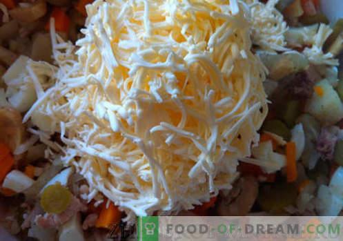 Ananāsu salāti - recepte ar fotogrāfijām un soli pa solim