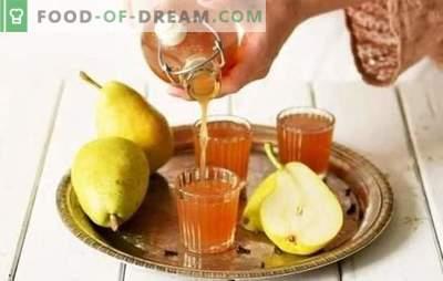 Bumbieru tinktūra mājās - garšīgs alkohols! Izvēle no labākajām bumbieru tinktūras receptēm mājās