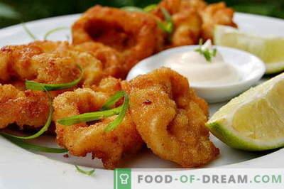 Los calamares en masa son las mejores recetas. Cómo cocinar correctamente y sabroso el calamar en masa.