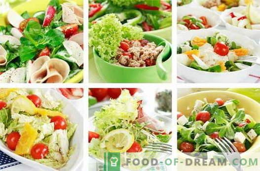 Vistas salāti ir labākās receptes. Kā pagatavot vistas salātus.