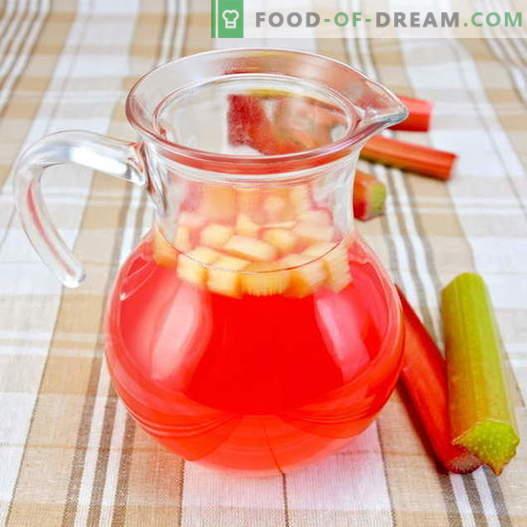 Rhabarberkompott - die besten Rezepte. Wie man richtig und köstlich Rhabarberkompott zubereitet.