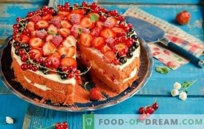 Nenoliedziet sev prieku - sagatavojiet sūkli ar zemenēm! Vienkāršas receptes sūkļa kūka ar zemenēm tējai un kafijai
