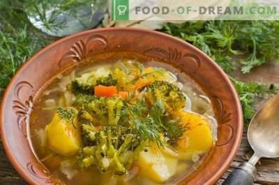 Garšīga liesa zupa ar kartupeļiem un brokoļiem