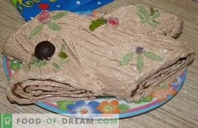 """Ziemassvētku žurnāls: pakāpeniska foto recepte franču desertiem. Garšīgus biezpienu un apelsīnu """"log"""" izgatavo bērni!"""
