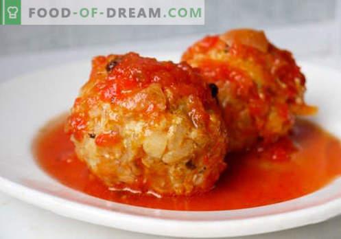 Hackfleischbällchen - bewährte Rezepte. Wie man richtig und lecker gekochte Fleischbällchen aus Hackfleisch macht.