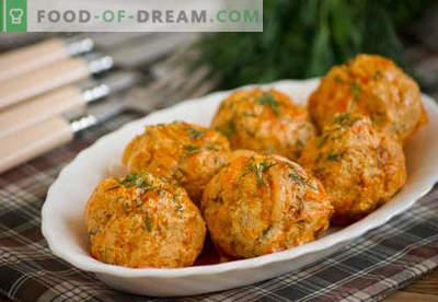 Vistas gaļas bumbiņas - pārbaudītas receptes. Kā pareizi un garšīgi vārītas vistas gaļas bumbiņas.