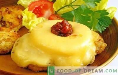 Karbonāde ar ananāsiem un sieru - ēdiens brīvdienām! Receptes karbonātiem ar ananāsu un cūkgaļas sieru, vistu, teļa gaļu