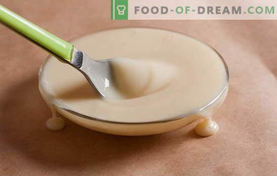Kā pagatavot kondensēto pienu mājās 15 minūtes. Mājas kondensēta piena receptes: lēnā plīts, mikroviļņu krāsnī, gāzē