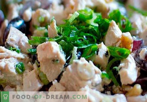 Kūpinātas vistas salāti - labākās receptes. Kā pareizi un garšīgi sagatavot salātus ar kūpinātu šķiņķi
