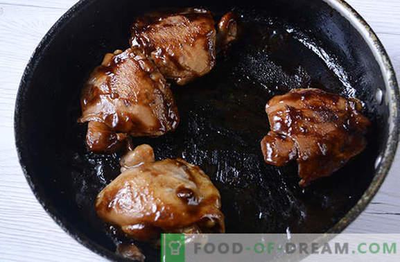 Cepta vista sojas mērcē pannā - 20 minūtēs! Pakāpeniska autora recepte diētiskā ceptajai vistas sojas mērcē