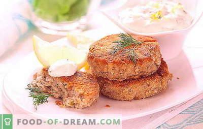 Sarkanās zivju kotletes - svētku delikatese un veselīgas vakariņas. Dažādas receptes sarkanās zivju kotletes visiem gadījumiem