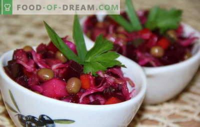 Vinaigrete ar kāpostiem - vitamīnu un ieguvumu izkliede. Receptes, kas gatavotas pazīstamas no bērnības vinigretes ar kāpostiem