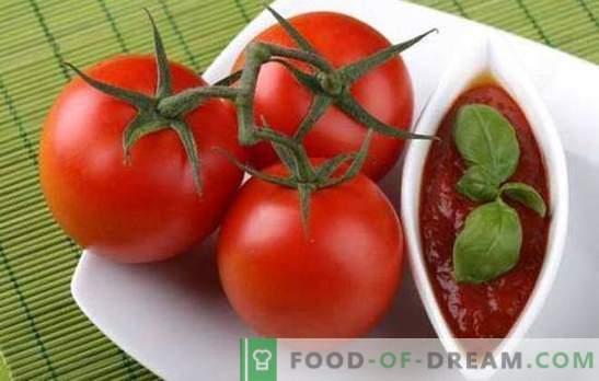 Готвење топол сос бр. 1 - лесен домат за зима. Најпознатите рецепти за домати за зима