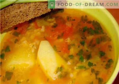 Zupas bez gaļas - labākās receptes. Kā pareizi un garšīgi zupa bez gaļas.